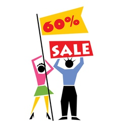 Retail Sale Sign vector image