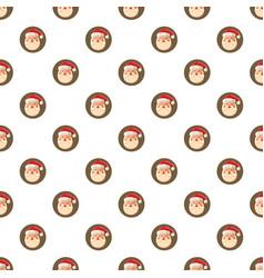 Santa claus face pattern vector