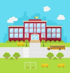School building background for back to vector