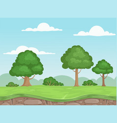 seamless game nature landscape parallax vector image