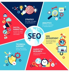 Seo Infographic Set vector