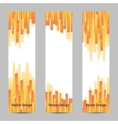 Set of vertical banners with yellow stripes vector image