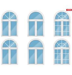 Set pvc windows vector