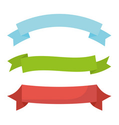 Set ribbons tapes frame vector