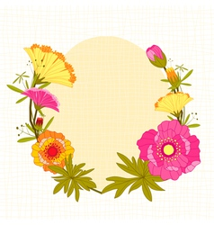 Springtime Colorful Flower Background vector image