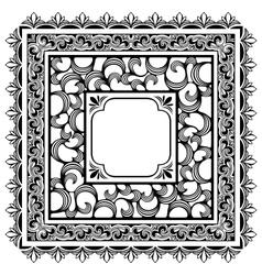 square borders vector image vector image