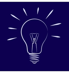 Symbol of the light bulb vector image