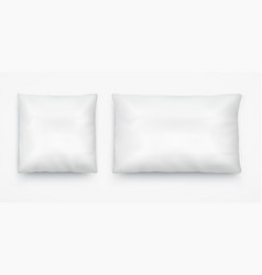White pillow layout square vector