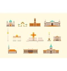 Berlin historical building vector image vector image