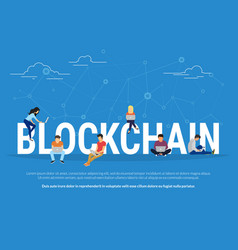blockchain concept vector image