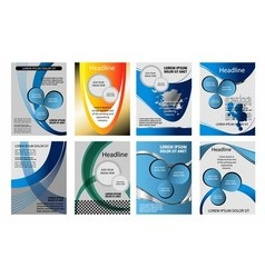 Blue background infographic information gra vector image