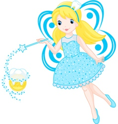 Cute Tooth Fairy vector image vector image