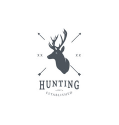 hunting logo template vector image