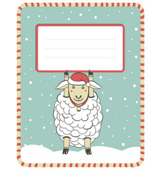 new year with cute sheep vector image