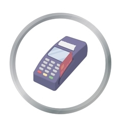 POS terminal icon in cartoon style isolated on vector image