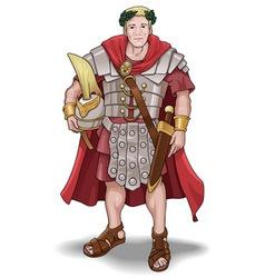 roman soldier vector image vector image