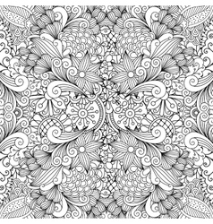 Seamless full frame kaleidoscope decoration vector image