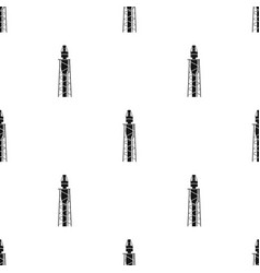 oil rig icon in black style isolated on white vector image