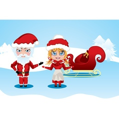 Santa and Mrs Claus2 vector image vector image