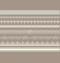beautiful lace ribbons set vector image vector image