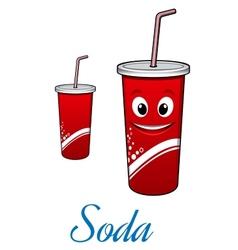 Cartoon cola or soda character vector image