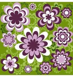 flower seamless wallpaper vector image vector image