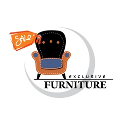 Furniture Sale tag vector image vector image