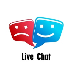 Live Chat icon vector image vector image