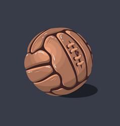 old fashioned soccer football leather ball vector image