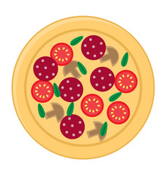 pizza flat icons isolated on white background vector image