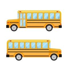 School Bus Isolated on White Background vector image