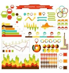 Set elements of infographics for design eps 10 vector image