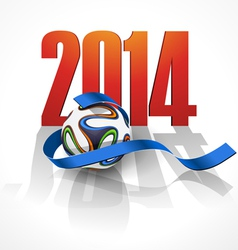 Sports background with a soccer ball vector image vector image