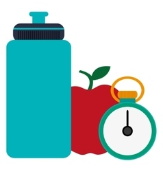 sports water bottle apple and apple vector image