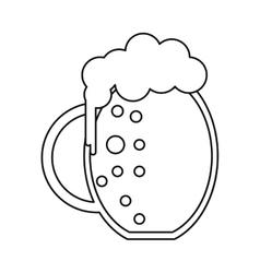 St patrick day jar beer foam cold outline vector