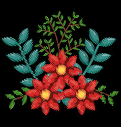 beautiful floral decoration icon vector image