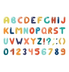 Colorful alphabet in retro memphis style - fashion vector image vector image