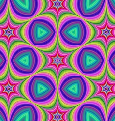 Colorful hexa star background vector