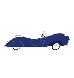 vintage blue car vector image