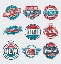 Vintage Retro Label Set vector image