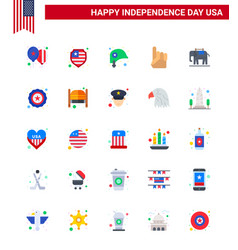 25 creative usa icons modern independence signs vector