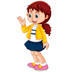 a cute girl character vector image