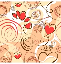 Abstract background with heart shapes vector image