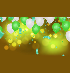 abstract background with shining green white vector image