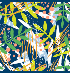 abstract seamless pattern with branches exotic vector image