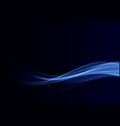 Abstract shiny color blue wave design element vector