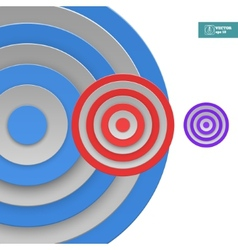 Abstract Targets Background vector image