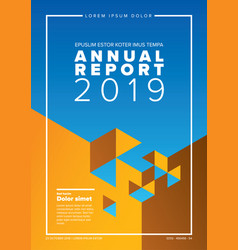 annual report cover template vector image