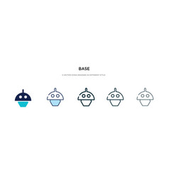 base icon in different style two colored and vector image
