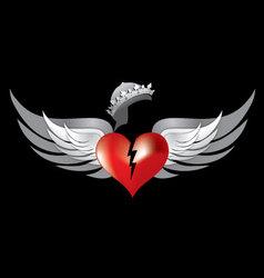 broken heart wings vector image